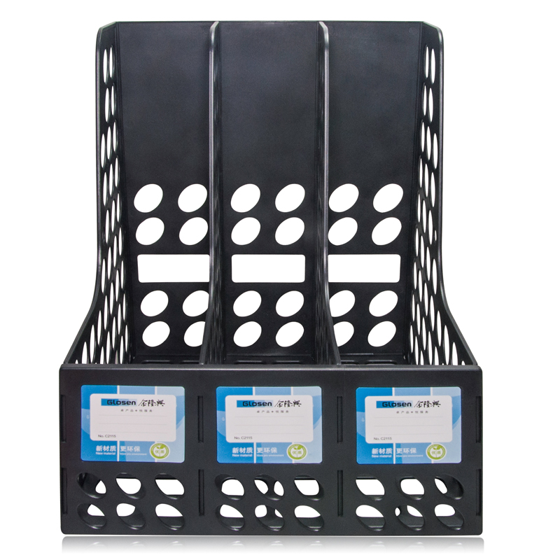 3 Columns Plastic Standard File Tray for Desktop Stationery Organizer C2115
