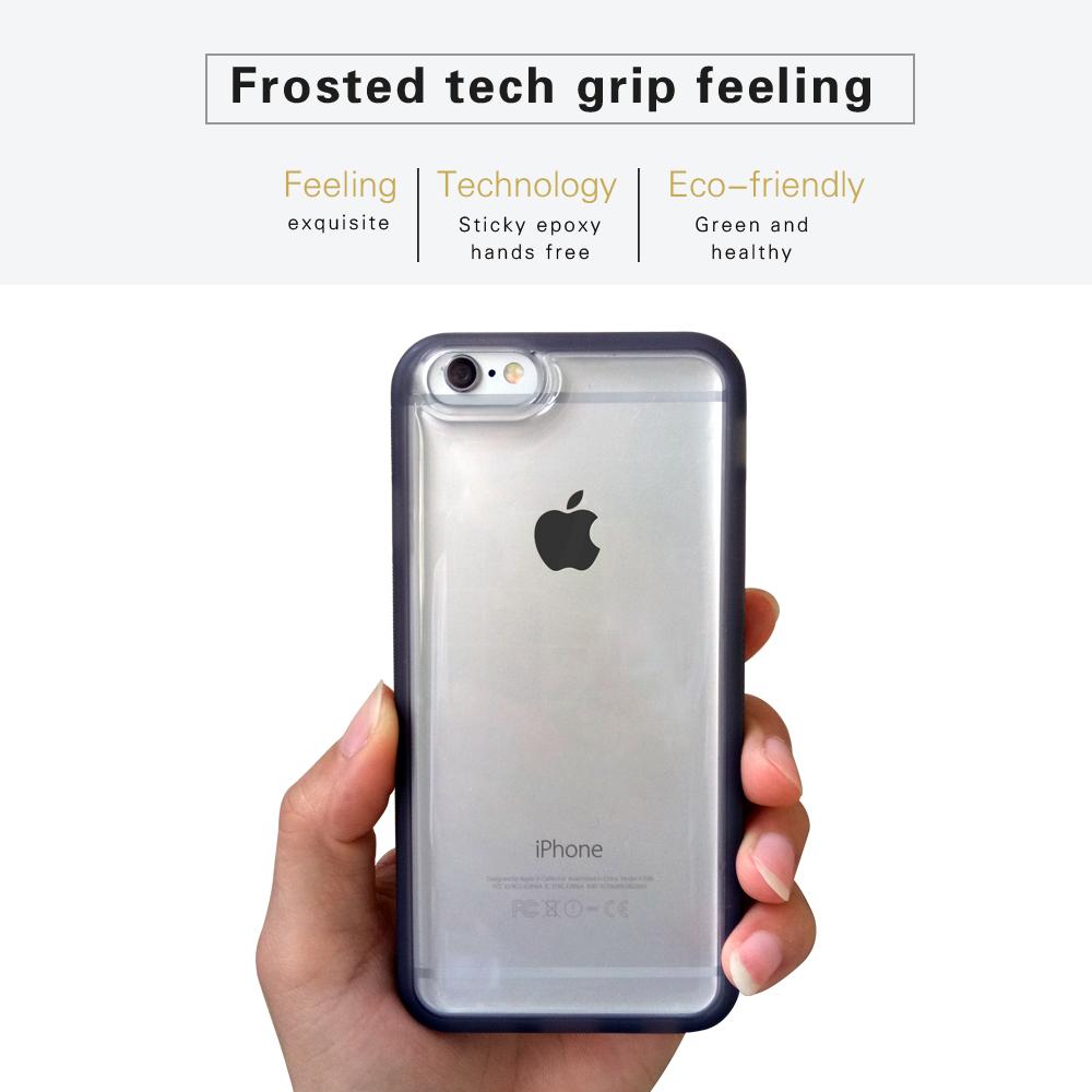 Anti Gravity Phone Case Clear Transparent TPU + PC Case Cover For i7