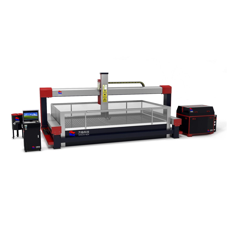 ac 5 axis 3d 45 degree waterjet cutting machine for marble granite ceramic tile quartz slate cnc wat