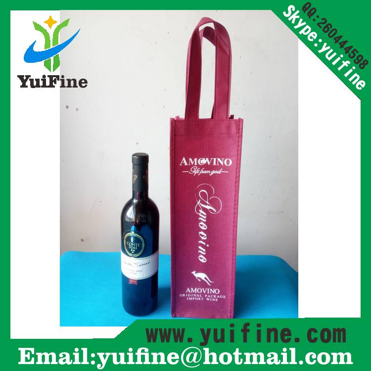 Wine Bag Non Woven Fabric Bag Reusable Cloth Bag Handbag Nonwoven Promotion Bag/Advertising Shopping