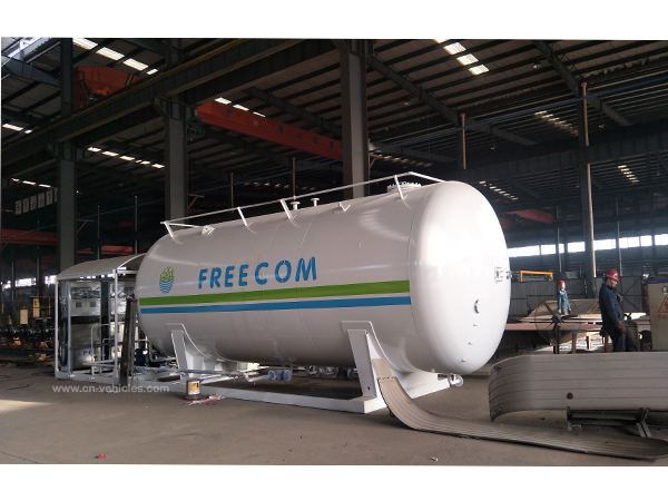 ASME Standard 45CBM LPG Storage Tank 23Tons Propane Gas Tanker With Filling Dispenser For Cooking Ga