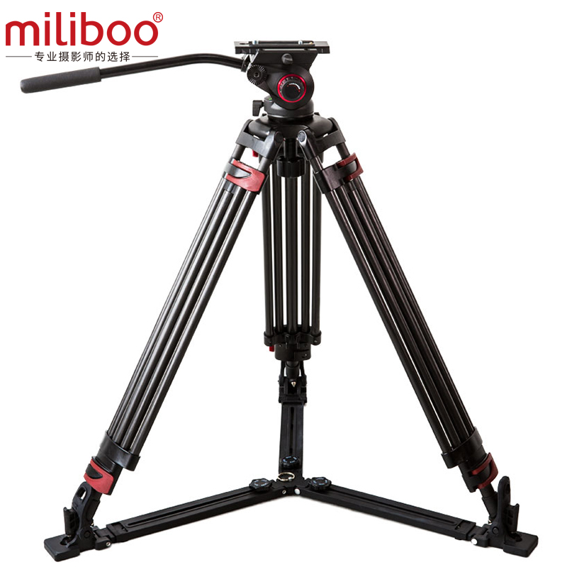miliboo Portable tripod MTT609B Carbon fiber lightweight professional video camcorder Tripod VS manf