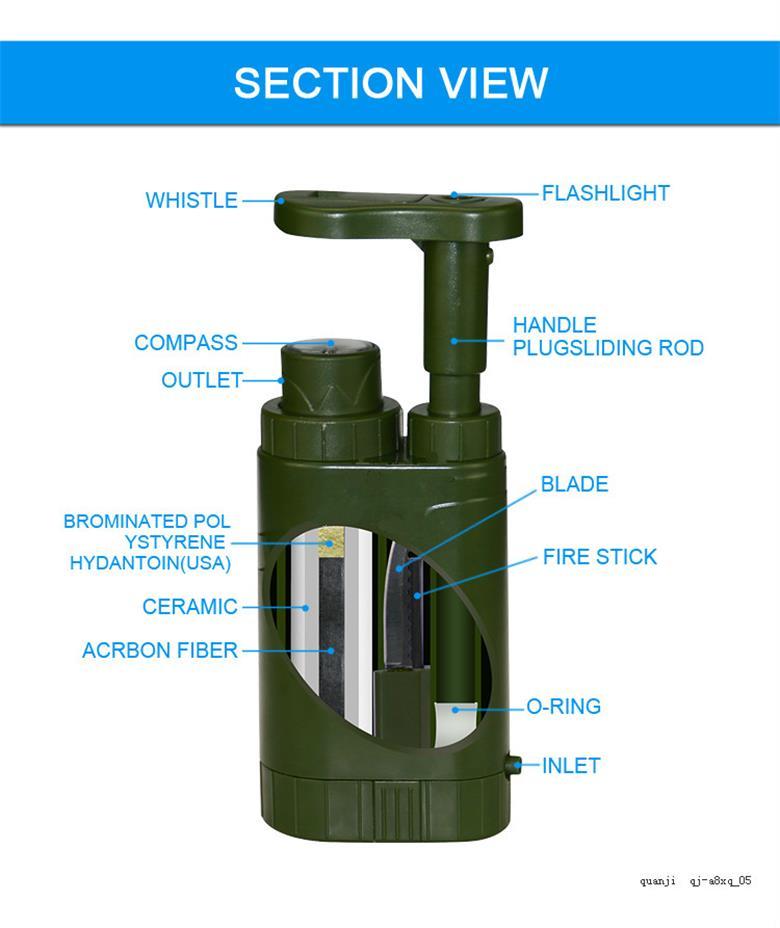 Multi function Mini outdoor water filter OEM