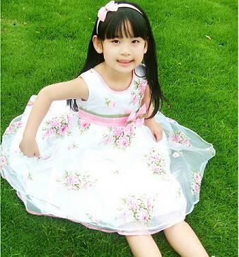 new Princess white dress for children girls