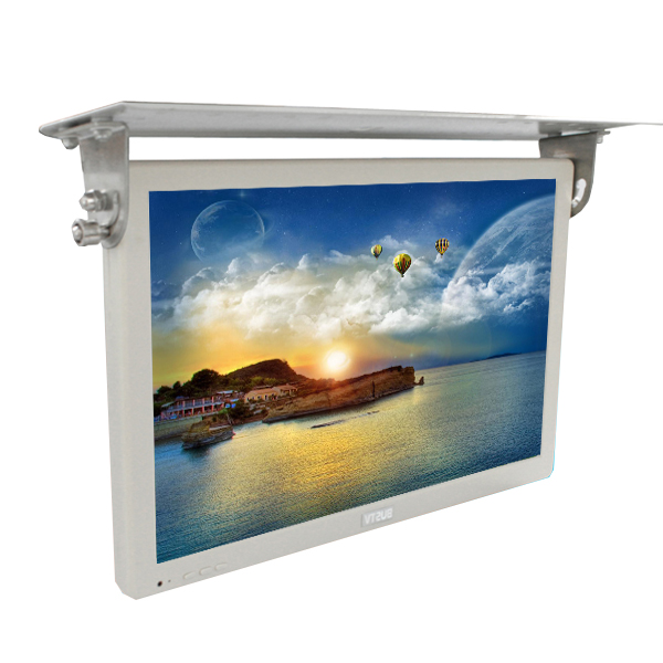 17 inch tft type bus/car 24V roof mounted lcd TV/display with USB/AV/HDMI input