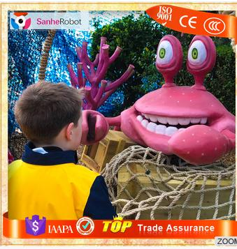 Gaint size animatronic animals sculpture cartoon character style Crab for sale