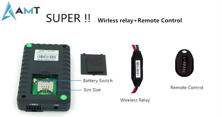 Wireless (RF) relay Vehicle GPS Tracker MT65 With Microphone and SOS