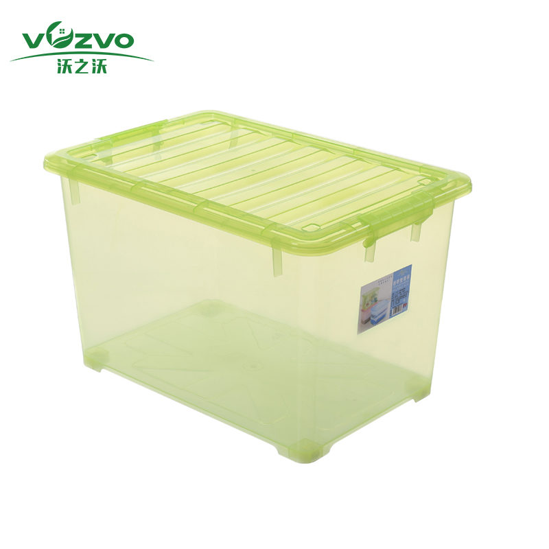 Wholesale 45L/55L Plastic Transparent Clear Container Storage Boxes & Bins