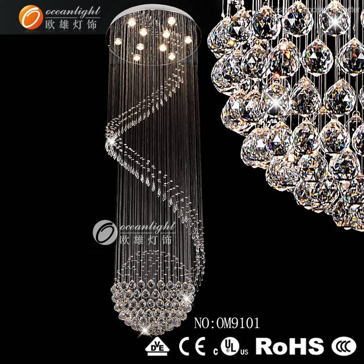 crystal pendant lighting suppliers, modern design pendant light OM9101