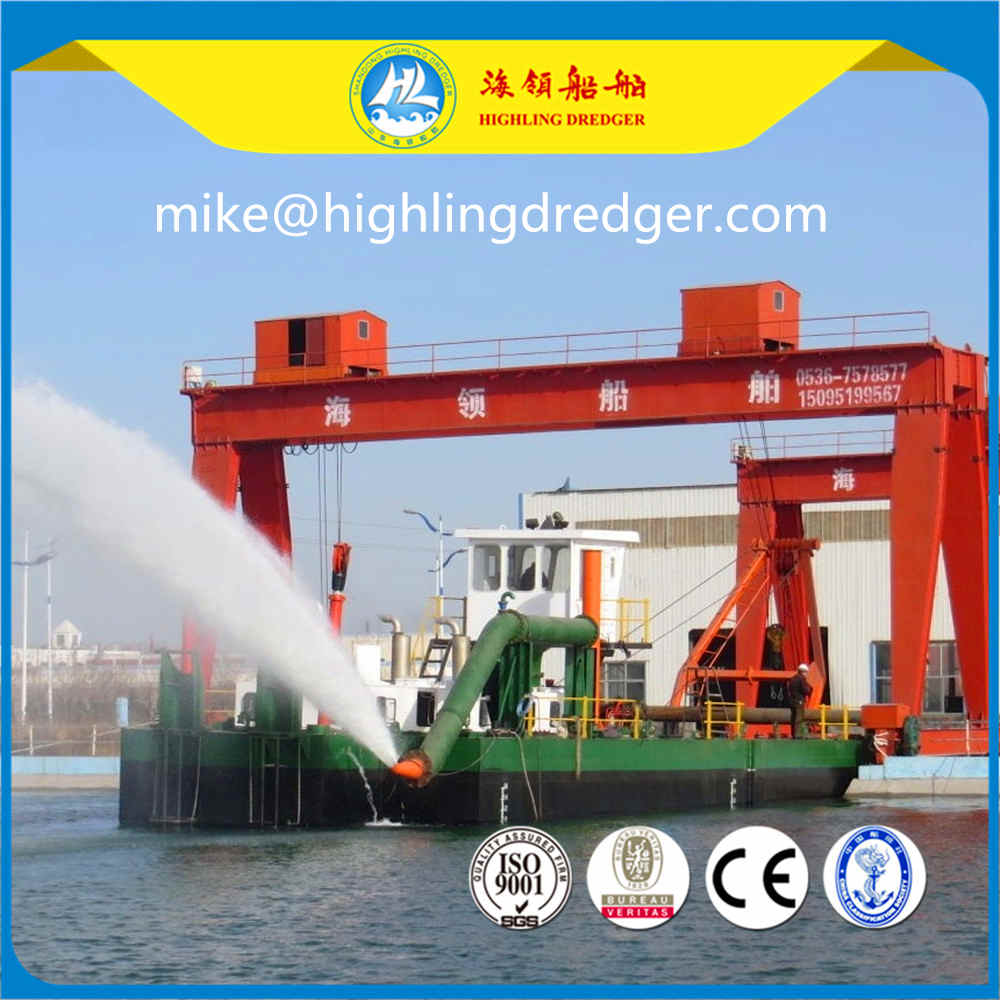 Cutter suction dredger, water flow 4500m³/h and discharge distance 2000m