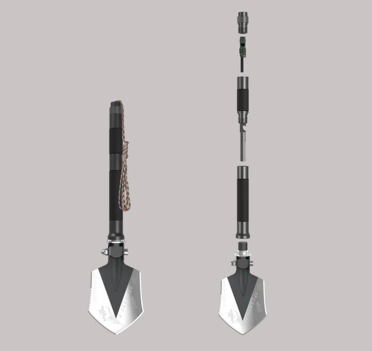 outdoor camping survival multifunction shovel