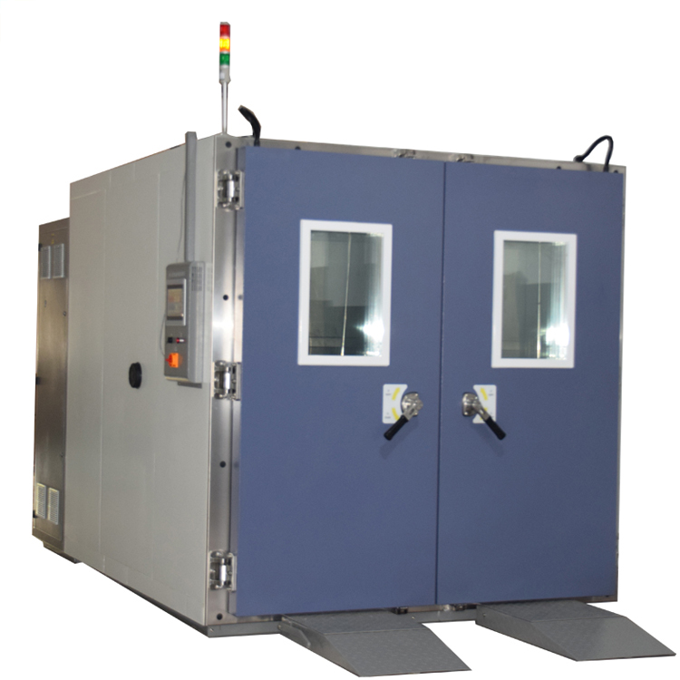 Drive-in test chambers for automobiles