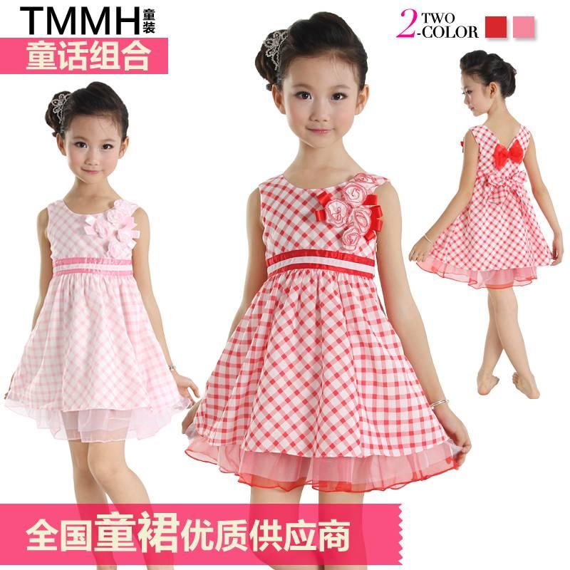 2013 new fashion designer girls dress Children clothes wholesale