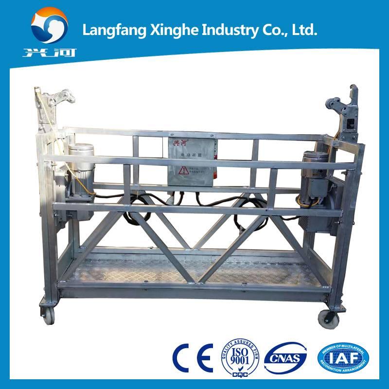 zlp630 aluminum hanging scaffolding / construction gondola platform / electric rope cradle