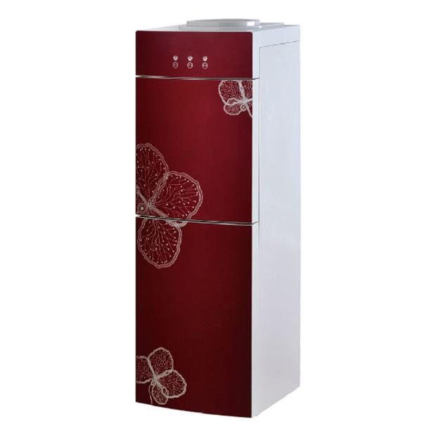 Arc glass door hot & cold bottle top floor standing water dispenser