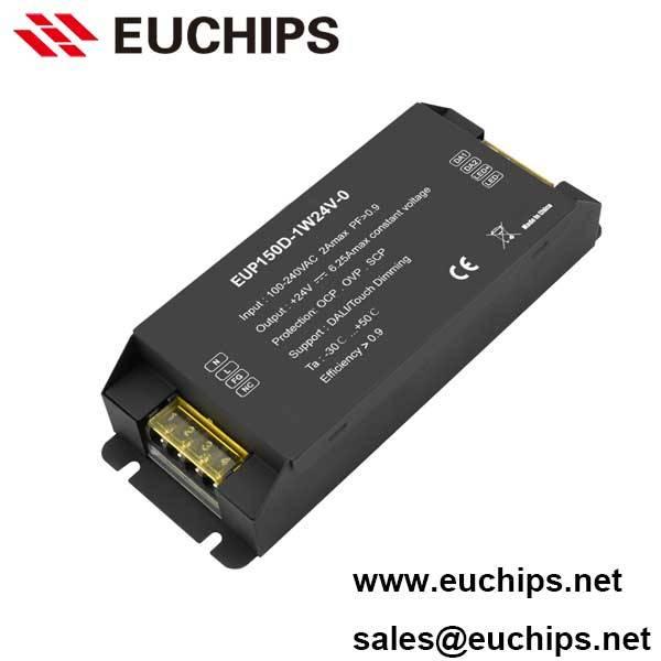 100-240VAC 150W 24VDC constant voltage led driver EUP150D-1W24V-0