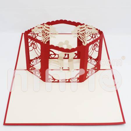 Wedding cube Pop Up Card Handmade Greeting Card