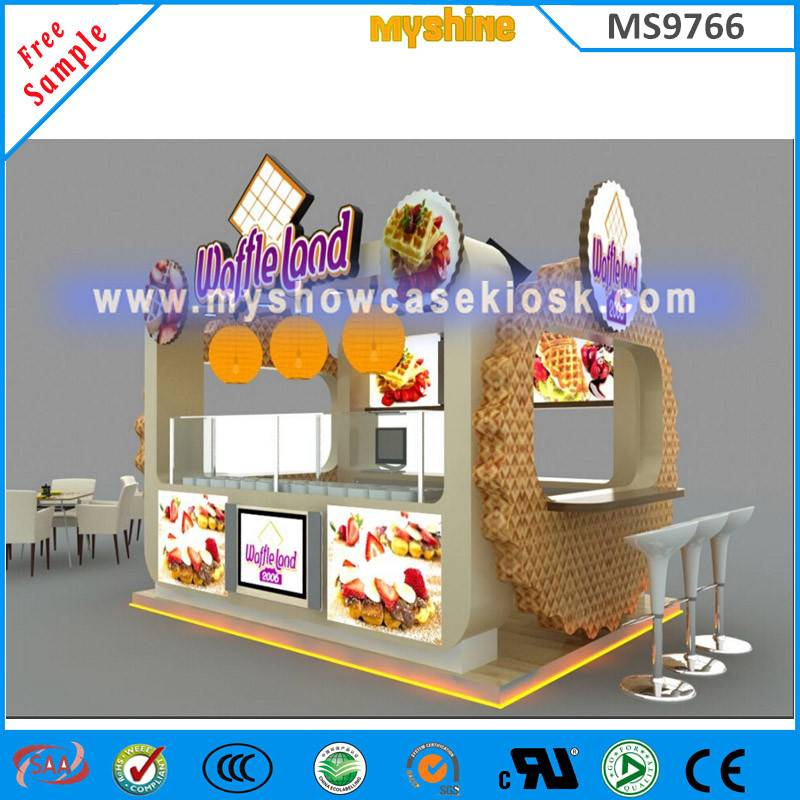 12x10feet Food Kiosk Design Waffle Land Kiosk For Sale From