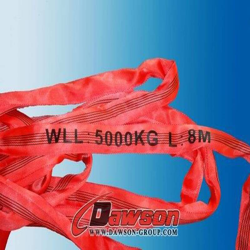 EN1492-2 5t polyester round lifting sling