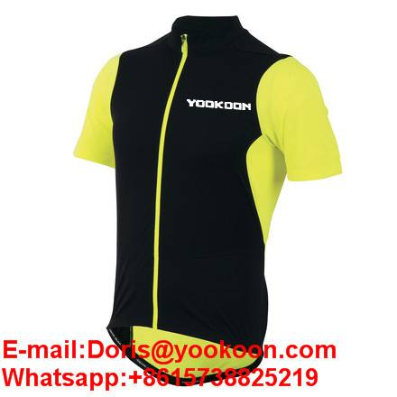 Colorful Yellow and Black Charm for Men Cycling Jersey