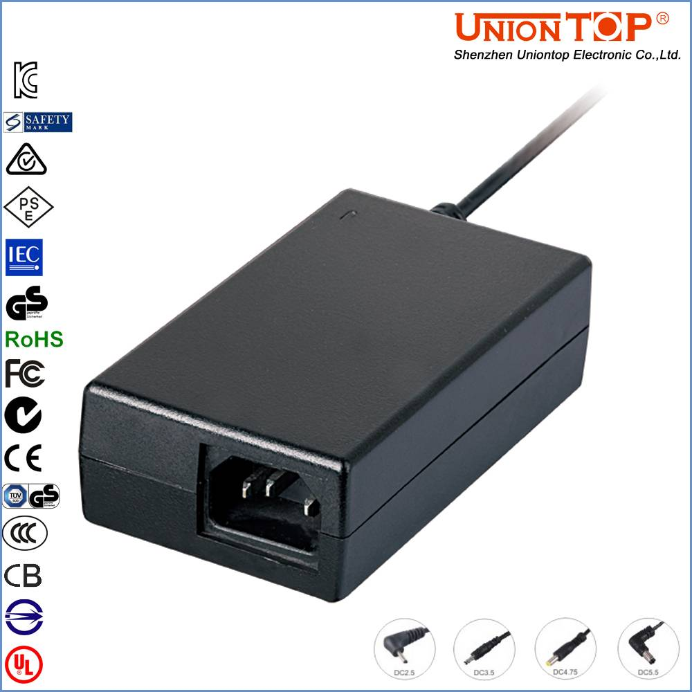 Desktop type 12v 5a ac adapter with KC CE FCC