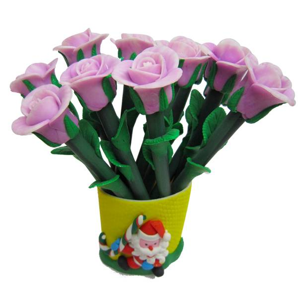 Polymer clay flower shape promotional pen