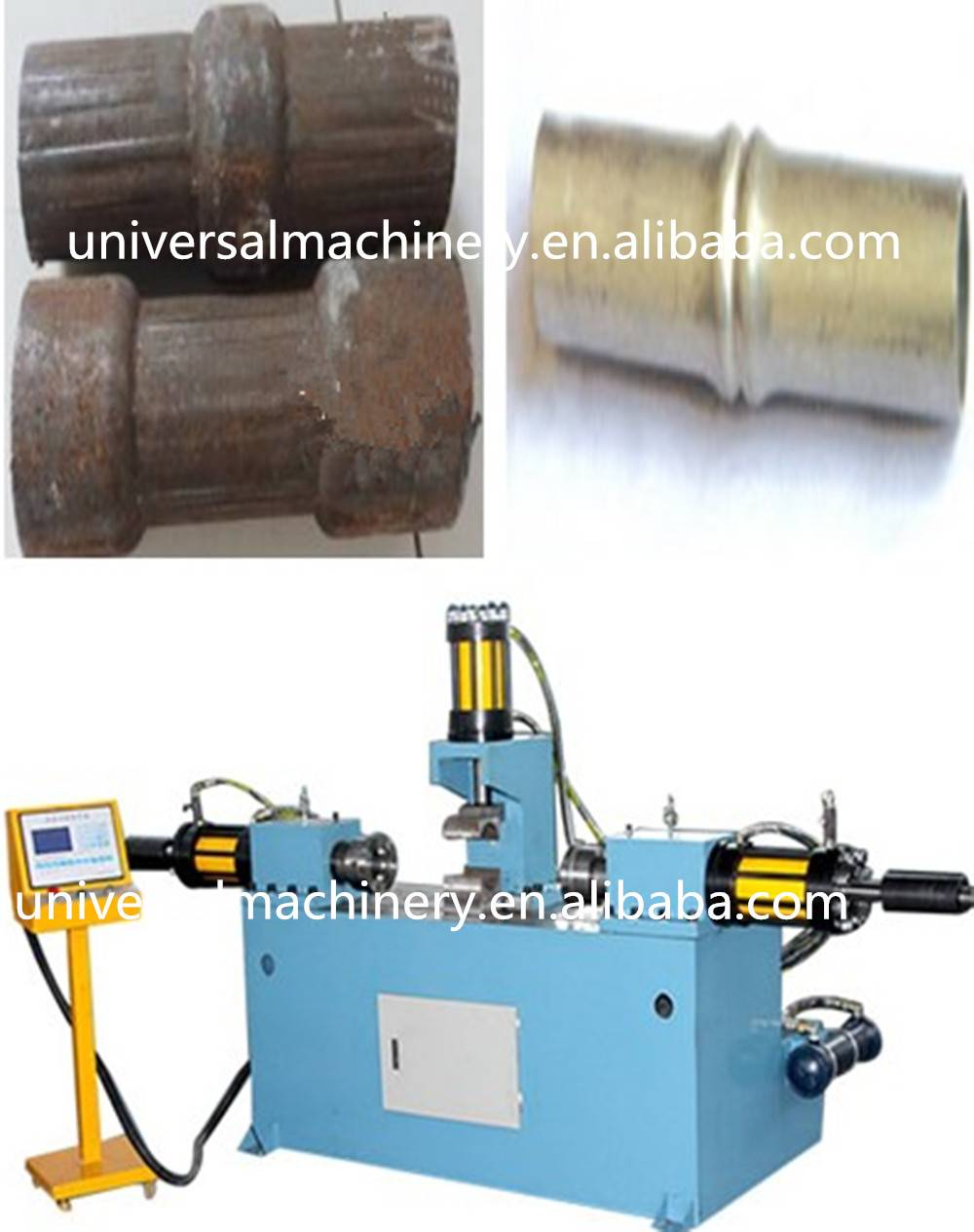 China Factory price Pipe Reducing Machine for Reducing Expanding Flanging