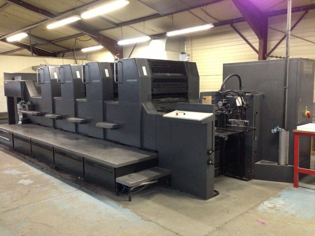 Used HEIDELBERG SM 74/4 H (2000) sheetfed offset printing press