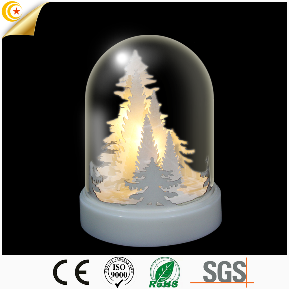 pure world in lighted glass dome standing tabletop indoor led lighting decoration