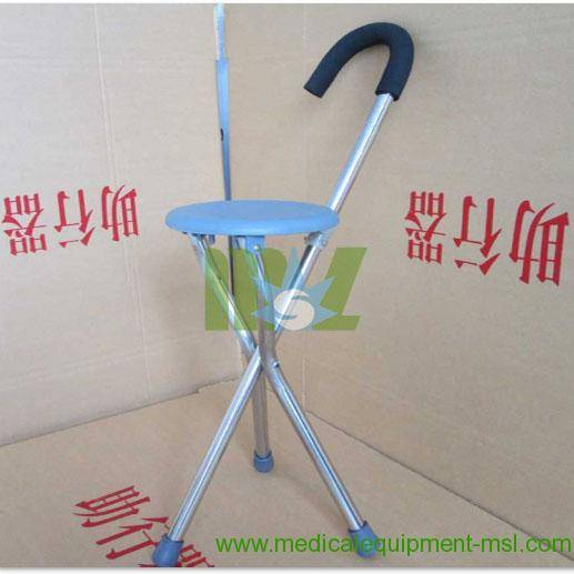 Stainless steel folding cane with seat-MSLAC04