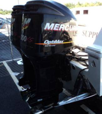Pair Mercury XS Optimax 300HP Outboard