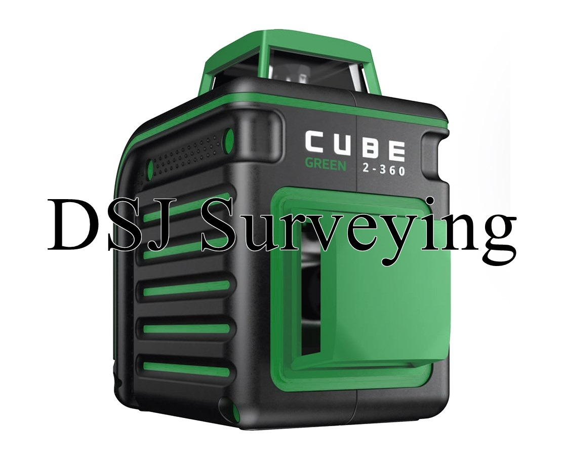 AdirPro Cube Green 2-360 Degree Horizontal & Vertical Cross Line Laser