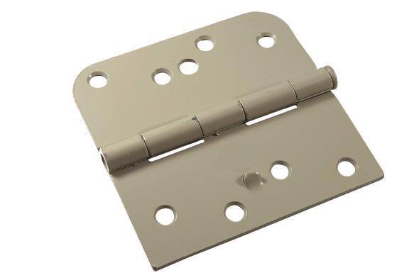 Steel door security hinges