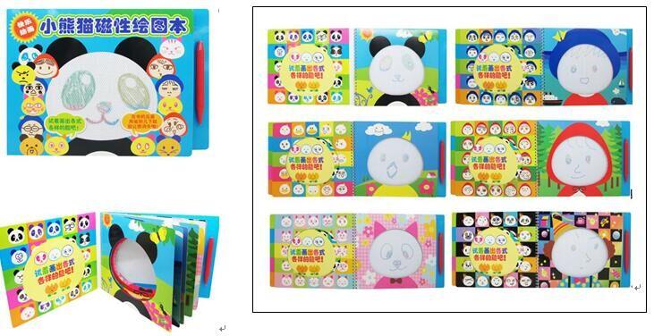Panda magnetic drawing book