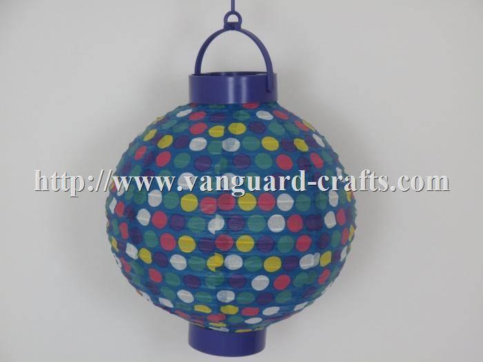 LED Holiday Polka Dot Paper Lantern Light