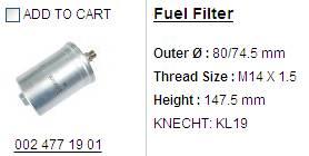 fuel filter KL 19