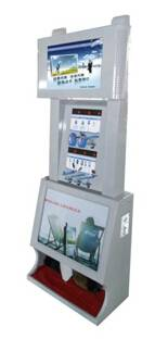 Free-standing Mobile phone charging Station with LCD advertising displayer remotely controlled