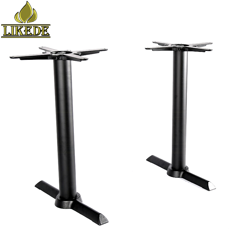 Low price powder coating black dining table base restaurant table base