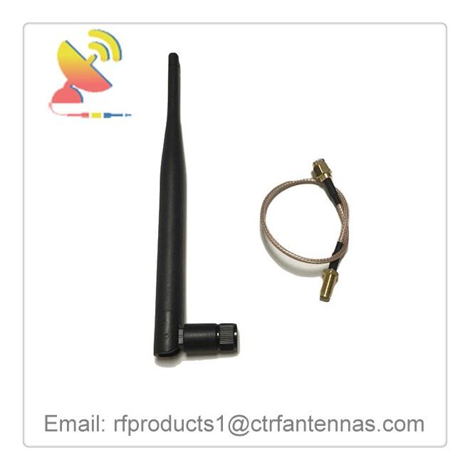 C&T RF Antennas Inc - 2.4G Wifi antenna Omni portable antenna with SMA to U,FL antenna adapter