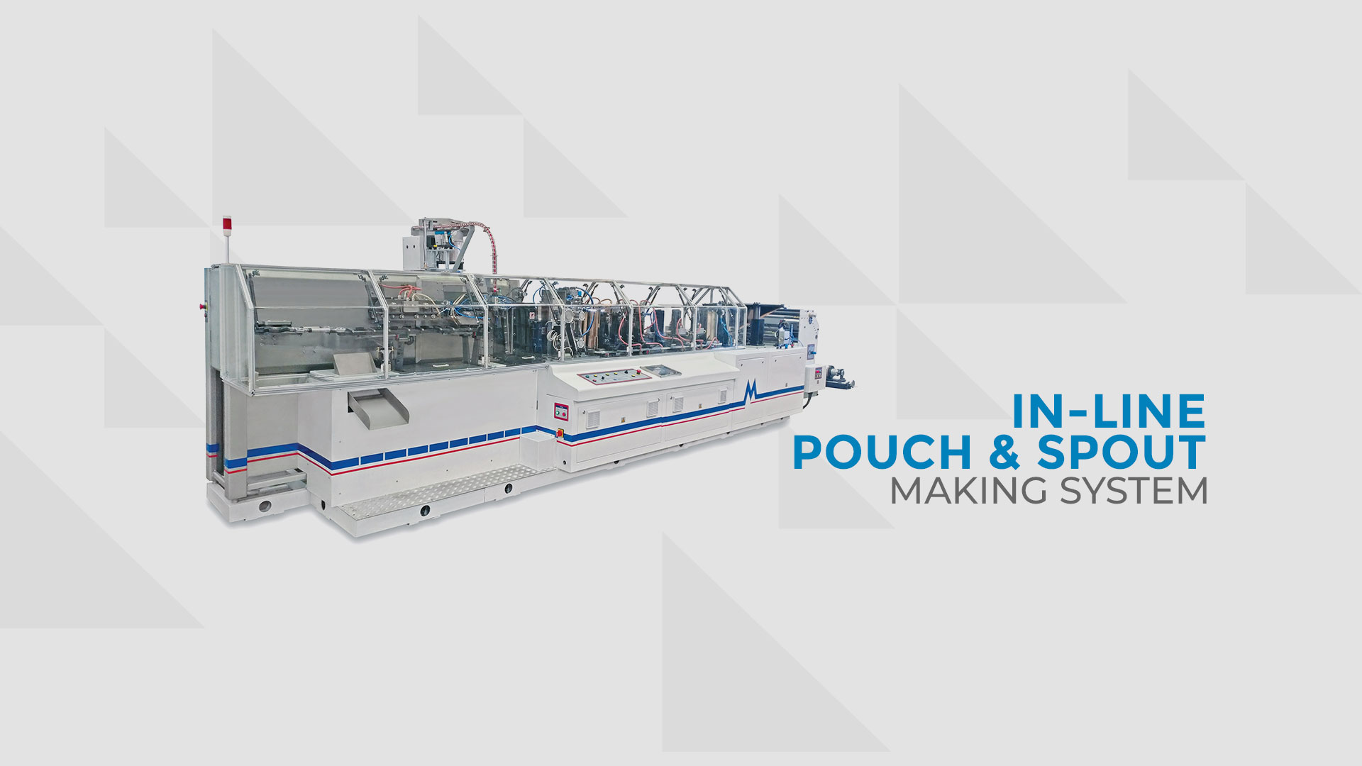 In-Line Pouch And Spout Making System VEGA 285 PM-SPOUT