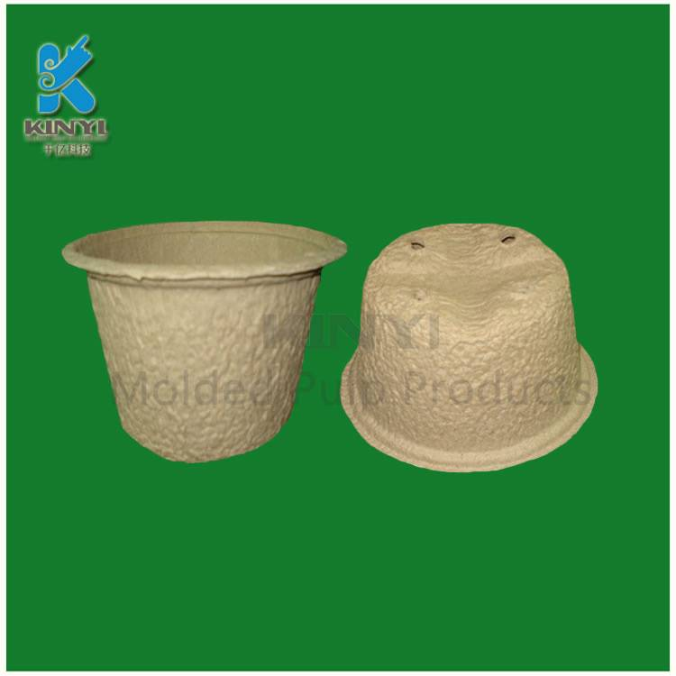 Recycled paper pulp mold, biodegradable garden pots, planters