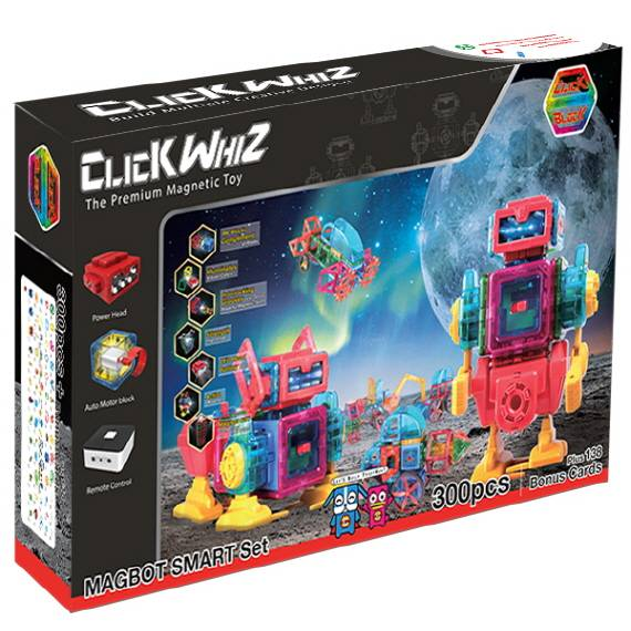 CLICKWHIZ MAGBOT-SMART Educational magnetic block toy