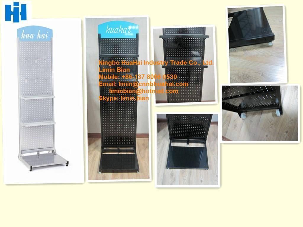 Folding metal display stand