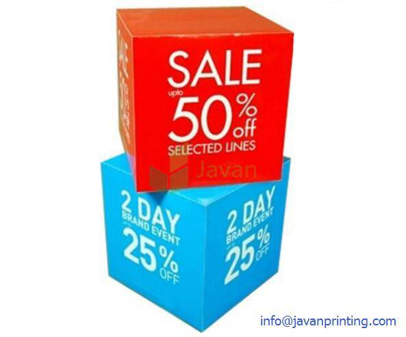 Advertising Cardboard Display Cubes for Promotion