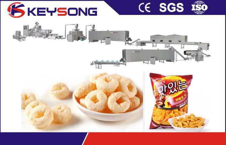 Corn puffing snacks / cheetoes / Nik nacks / Kurkure Making machine