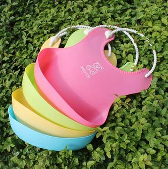 colorful silicone baby bib with new design factory direct supply