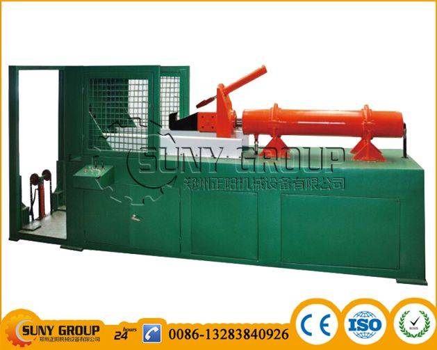 Hydraulic tire steel extractor machine