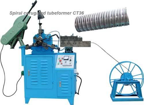 Spiral corrugated duct machine