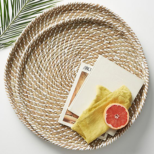 Seagrass woven trays