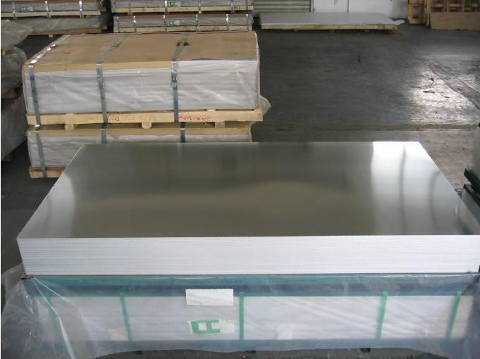 Mill finish aluminum sheet